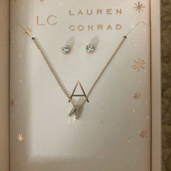 """""""A""""necklace with earrings from LC kohl's line"""